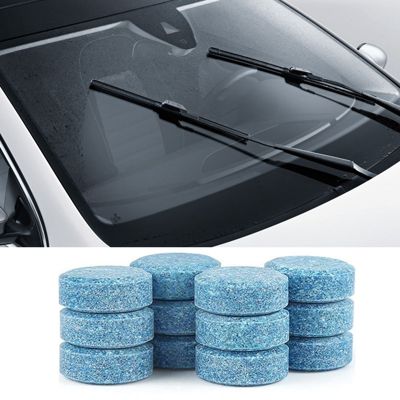 10/20Pcs Concentrated Effervescent Tablets Car Windshield Cleaner Solid Tablets Wiper Washer Glass Window Fluid Screen Detergent