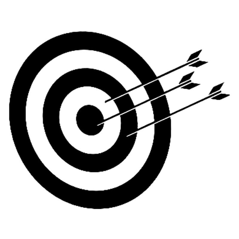15.1cm*12.8cm Archery Target Personality Vinyl Stickers ...