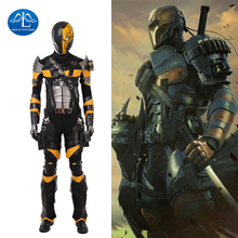 DC Super Villain Deathstroke Cosplay Costume Men Slade Joseph Wilson Cosplay Costume Halloween Deluxe Adult Outfit Custom Made цена и фото