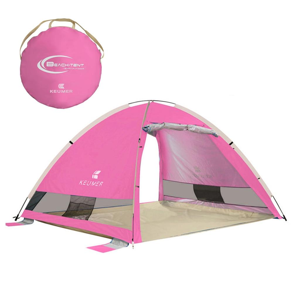 Automatique Instantanée Pop Up tente de plage En Plein Air Léger UV Hydrofuge tente de camping Soleil Cabana Tente Abri pour 3-4 Personnes