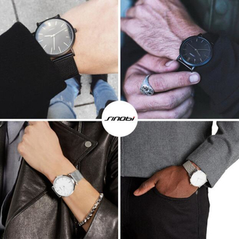 SINOBI Fashion Stainless Steel Watch Men Women Watches Simple Men's Watch Minimalist Women's Watches Lovers' Clock saat relogio 5