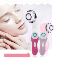Skineat Ultrasonic Electric Facial Cleaning System Rechargeable Waterproof Exfoliator Scrubber Cleanser With 2 Brush Heads