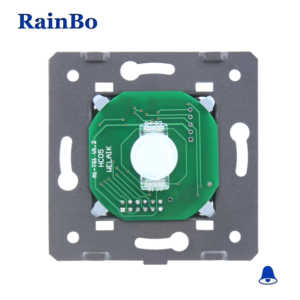 rainbo Touch Switch Manufacturer Door bell Switch DIY Parts EU Standard Touch Screen Wall Light Switch 1gang1way 110~250V A911ML thyssen parts leveling sensor yg 39g1k door zone switch leveling photoelectric sensors