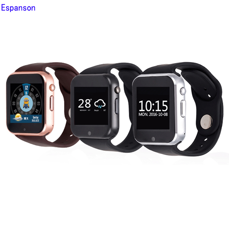 New Espanson Smart Watch 3G WiFi GPS Bluetooth Heart Rate Sport Wristwatch Phone Dial Call Camera Clock Fitness For IOS Android new curren x4 smart phone watch heart rate step counter stopwatch ultra thin bluetooth wearable devices sport for ios android