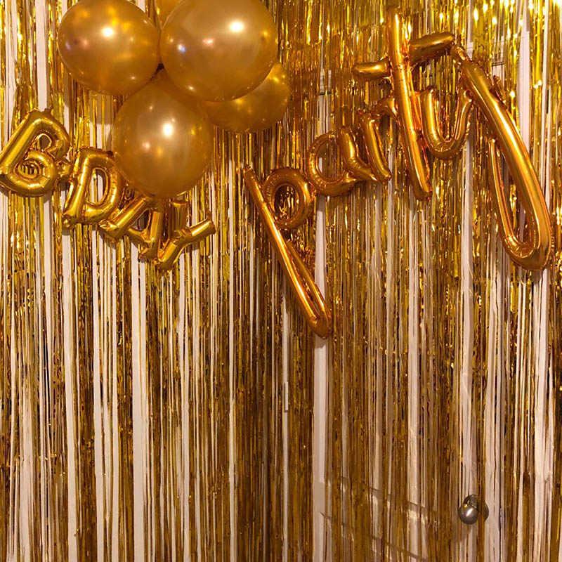 3 м 2 м розовое золото металлические блестки из фольги бахрома занавес дверь дождь свадебное украшение фон на день рождения фон фото реквизит