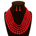 European and American big piece fashion necklace earrings bridal jewelry selling Africa  0582