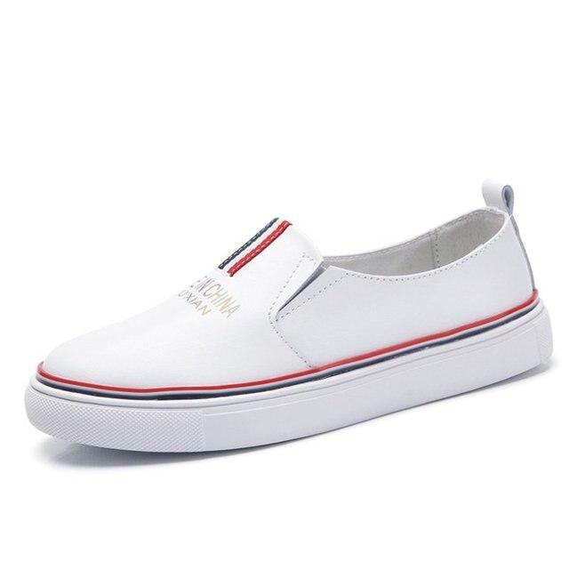 Женщины Мокасины Повседневная Квартиры Обувь % 100 Высокое Качество Подлинная Кожа Коровы Дамы Обувь Для 2016 Весна Осень Корейской Белый обувь