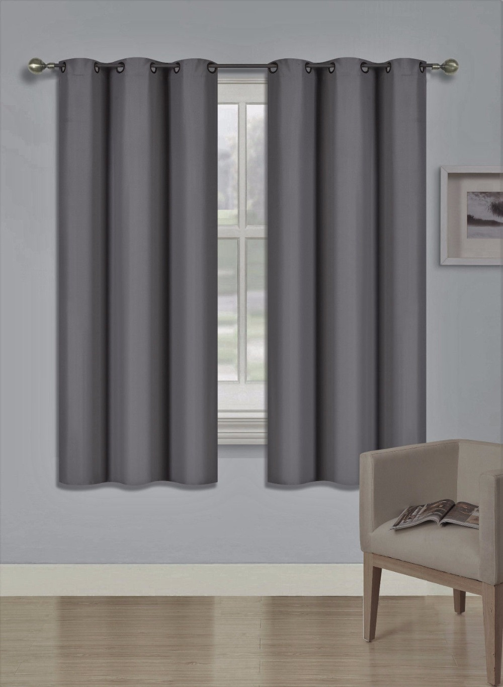 Curtains Blinds Homeideas Blackout Curtains Room Darkening Thermal Insulated Grommet Drapes For Home Furniture Diy Zabbaan Com