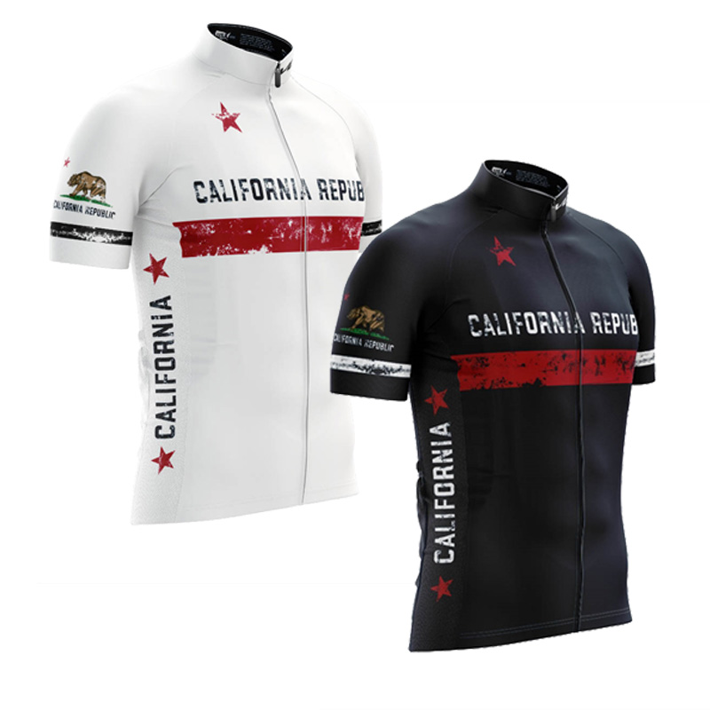 5261bc707 Aliexpress.com   Buy 2018 California Republic cycling jersey white black  summer short sleeve cycling clothing 2 styles maxhonor full zipper from  Reliable ...