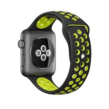 38mm Sport Band For Apple Watch Series 2 Nike Sport Band Soft Silicone Replacement wrist Strap for Apple smart watch