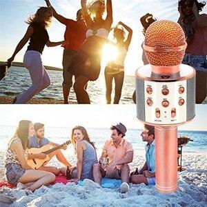 Image 5 - WS858 Wireless Karaoke Microphone Speaker Portable Bluetooth Home KTV Singing Handheld & Music Player Mic For Ios Andriod Phone