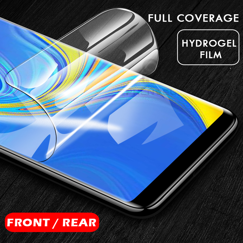 0.1mm Protective Film For Samsung A9 A8 A7 Gel Screen Protector For Galaxy A8 Plus A7 2018 3D Back Hydrogel Film