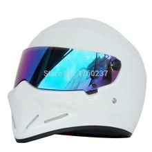FRP Casco de Moto de Cara completa TopGear El STIG Casco capacete Casco SIMPSON Star Wars 5 color Visera