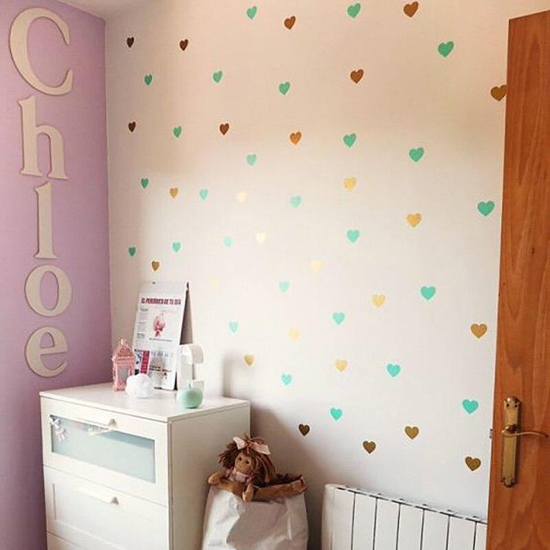 Baby Girl Room Heart Home Decor Wall Sticker For Kids Room Nursery Kids Wall Stickers Girl Bedroom Wall Decor Home Decoration