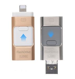 Nuevo 3,0-Flash pluma conductor HD U-disco de datos para iPhone/iPad/iPod interfaz de micro usb flash drive para PC/MAC 256G/32G/64G