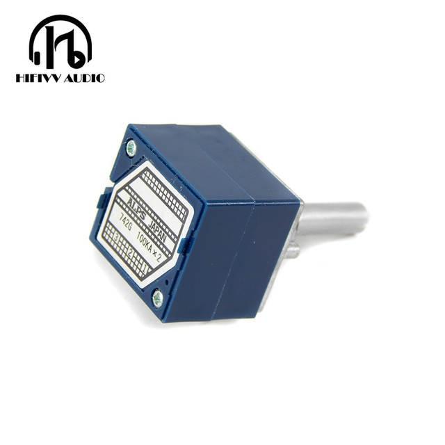 US $12 25 |Hifivv audio Japanese original ALPS potentiometer 27 type 10K  50K 100K volume potentiometer hifi power amplifier accessories-in Amplifier
