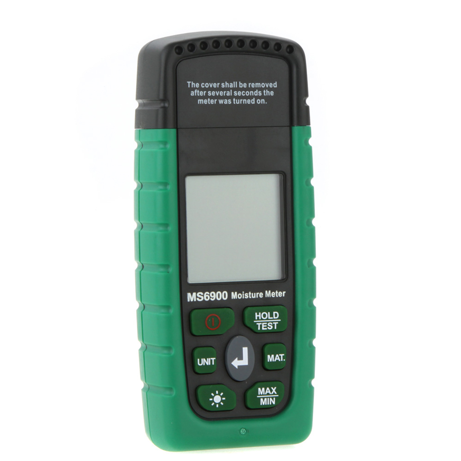 Professional Higrometre MS6900 Mini Digital Moisture Meter Wood Lumber Concrete Building Humidity Tester with LCD Display md7820 digital lcd display wood moisture meter tester analyzer