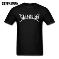 Men S T Shirt Tops Metallica Hard Metal Rock Band Logo Male Tops Clothing Pre Cotton