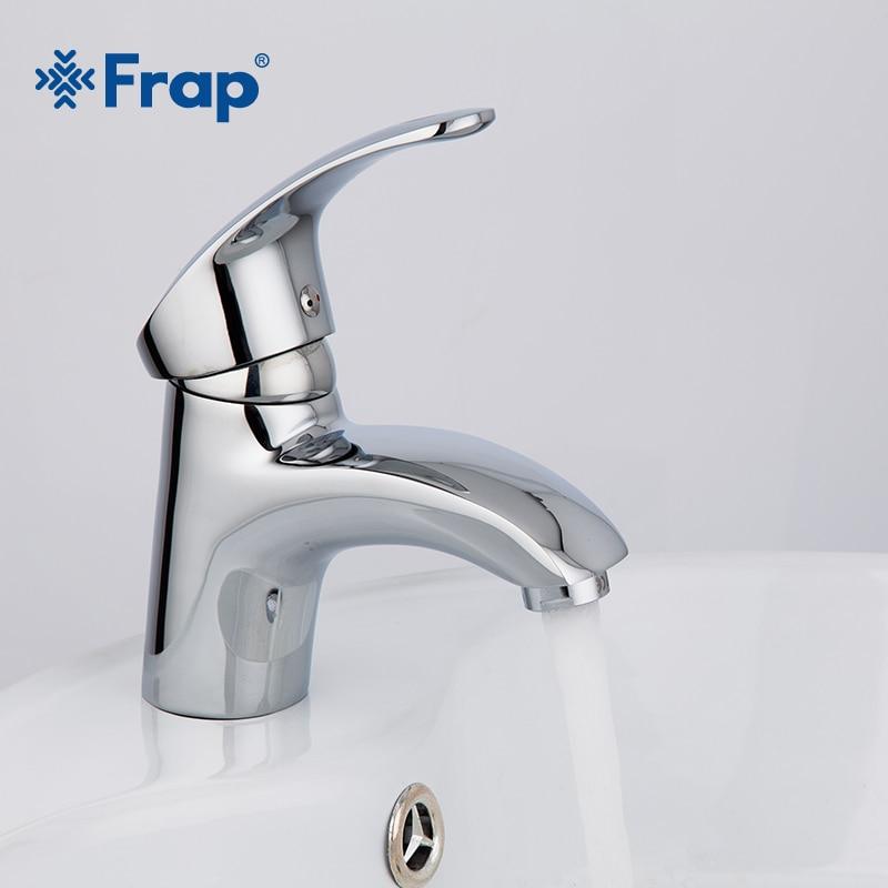 Frap 1set Deck mounted Chrome bathroom Basin taps Brass body bath ...