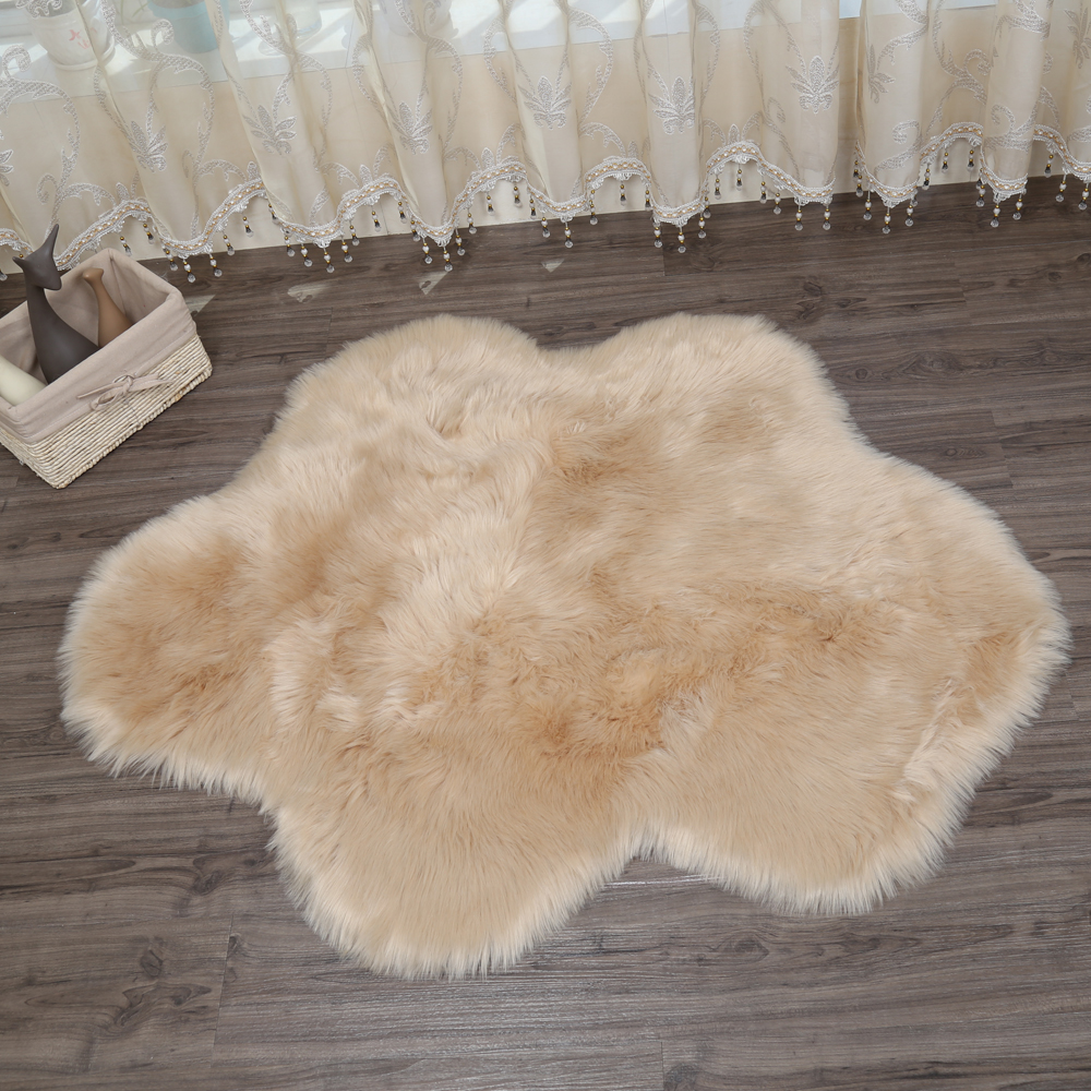 2018 nouveau nuage forme peau de mouton tapis chaise couverture chambre tapis laine artificielle chaud poilu tapis siège chaud Textil fourrure tapis