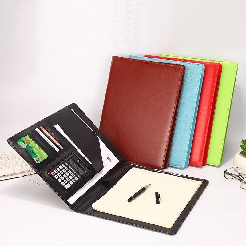 Harphia classique A4 dossier de conférence porte-fichiers dossier de document d'affaires faux cuir PU porte-documents noir marron