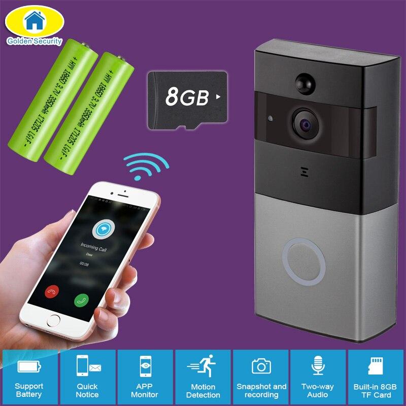 Golden Security WiFi Video Intercom Doorbell 720P HD Alarm Security Camera Night Version Wireless Doorbell with 18650 Battery golden media wizard hd в сургуте