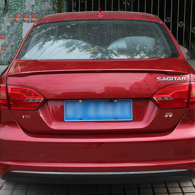 Car-Styling Without Paint Rear Trunk Lid Wing Spoilers For Volkswagen Jetta 2011 2012 2013 2014 2015 ABS Chrome Auto Accessories car rear trunk security shield shade cargo cover for nissan qashqai 2008 2009 2010 2011 2012 2013 black beige