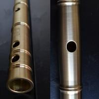 Metal Flute DIZI Key of C D E F G Flauta Thicken Brass Dizi Flute Professional Musical Instrument Flauta Self defense Weapon