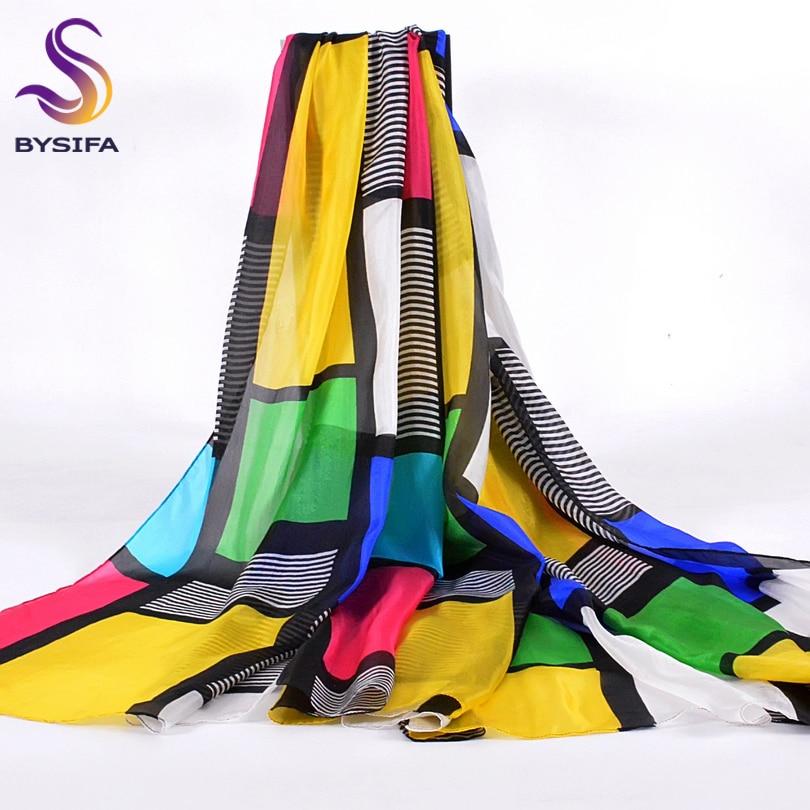 Plaid Pure Silk Scarf Female Apparel Accessories Brand Long Scarves Wraps Summer 100% Silk Scarf Tippet Beach Shawl 200*110cm