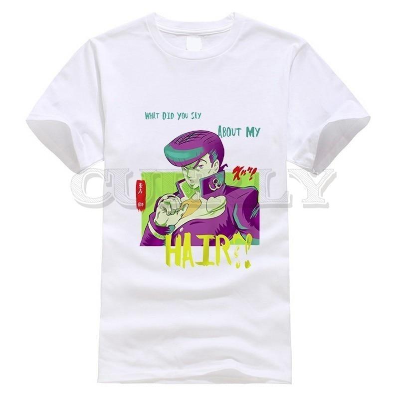 2019 New T shirt Short Sleeve Jojo Bizarre Adventure Thsirt Japan Anime Cartoon Fashion Summer Dress Men Tee Funny T Shirt in T Shirts from Men 39 s Clothing