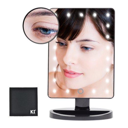 Acquista negozio led illuminato specchio per il trucco a batteria con portatile - Specchio trucco illuminato ...