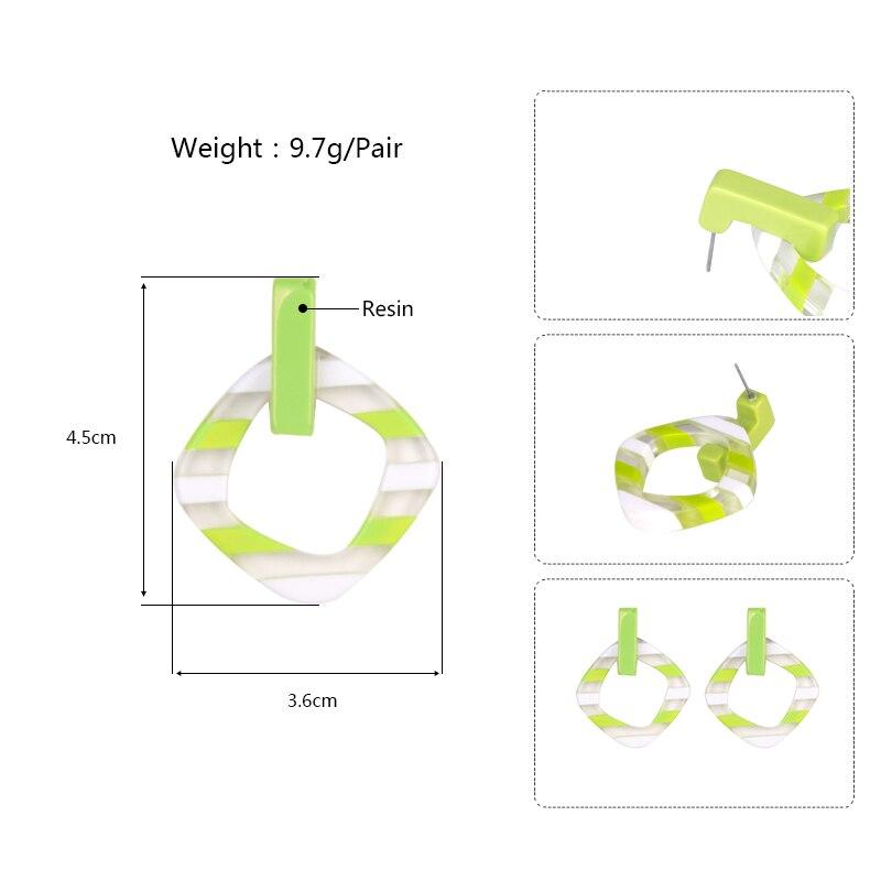 GuanLong Vintage Long Dangling Acrylic Earrings for Women Big Geometric Resin Drop Earring for Girls Fashion Jewelry Brincos  (6)