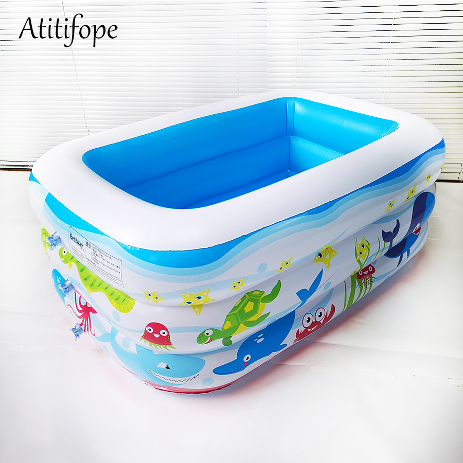 Three Layers Inflatable Pool Water Pool In Summer Pit Ball Pool Children's Inflatable Swim Center Family Pool