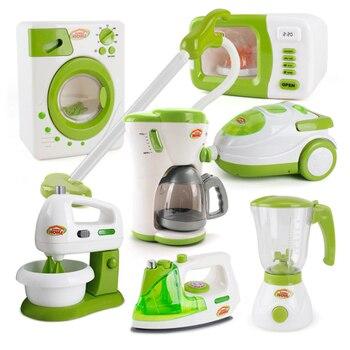 7 tipos 1 juego de simulación de juego de juguete de limpieza aspiradora limpiador de limpieza lavadora máquina de coser Mini juguete de limpieza