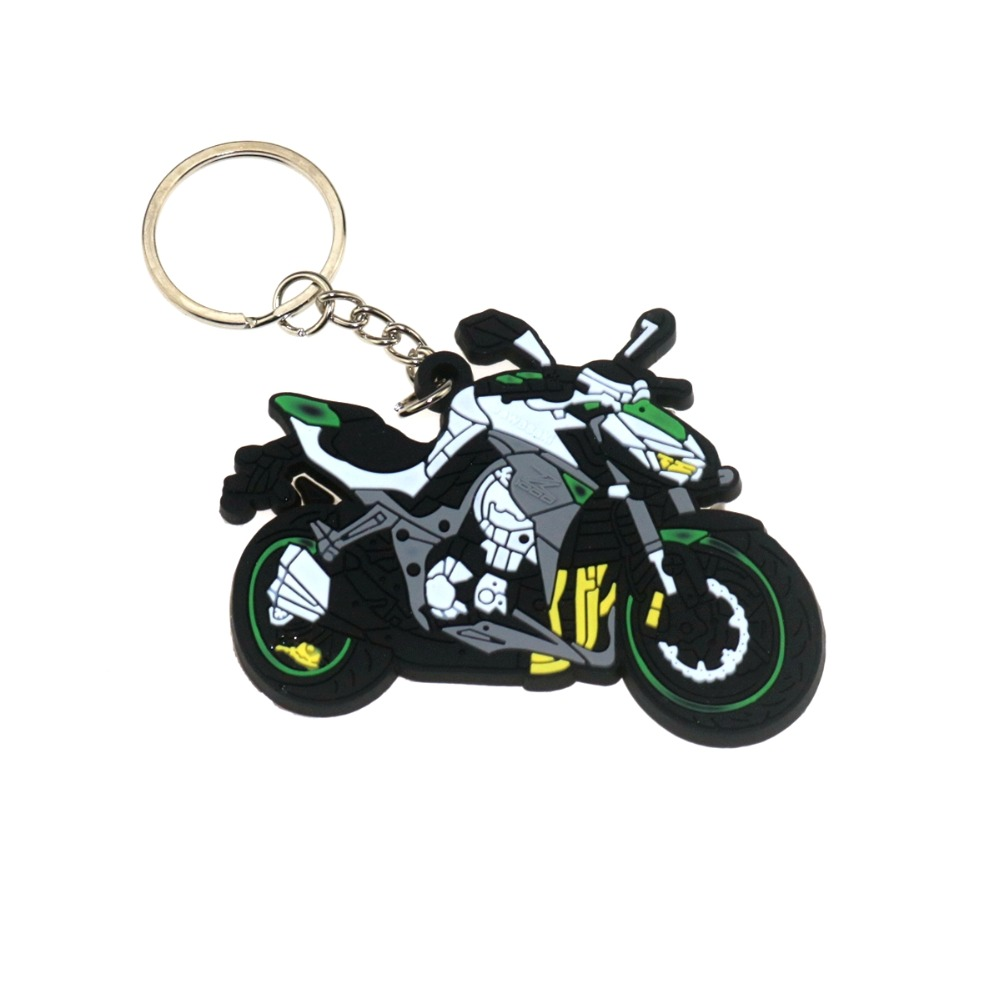 Keychain Rubber Motorcycle Car Superbile Racing Keyring Motor Sport Gift New