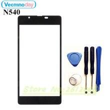 Vecmnoday Original LCD de Repuesto Frontal Exterior de la Lente de Cristal de la Pantalla Táctil de Alta calidad Para Microsoft Nokia Lumia 540 N540