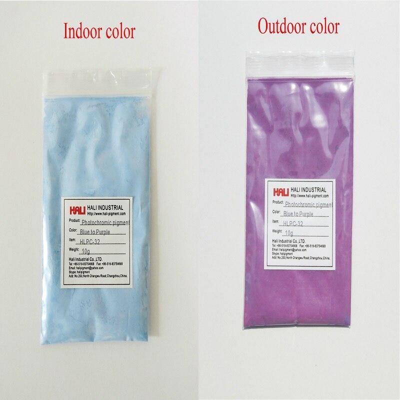 double color photochromic pigment solar active pigment color blue to purple item HLPC 32 1lot 200gram