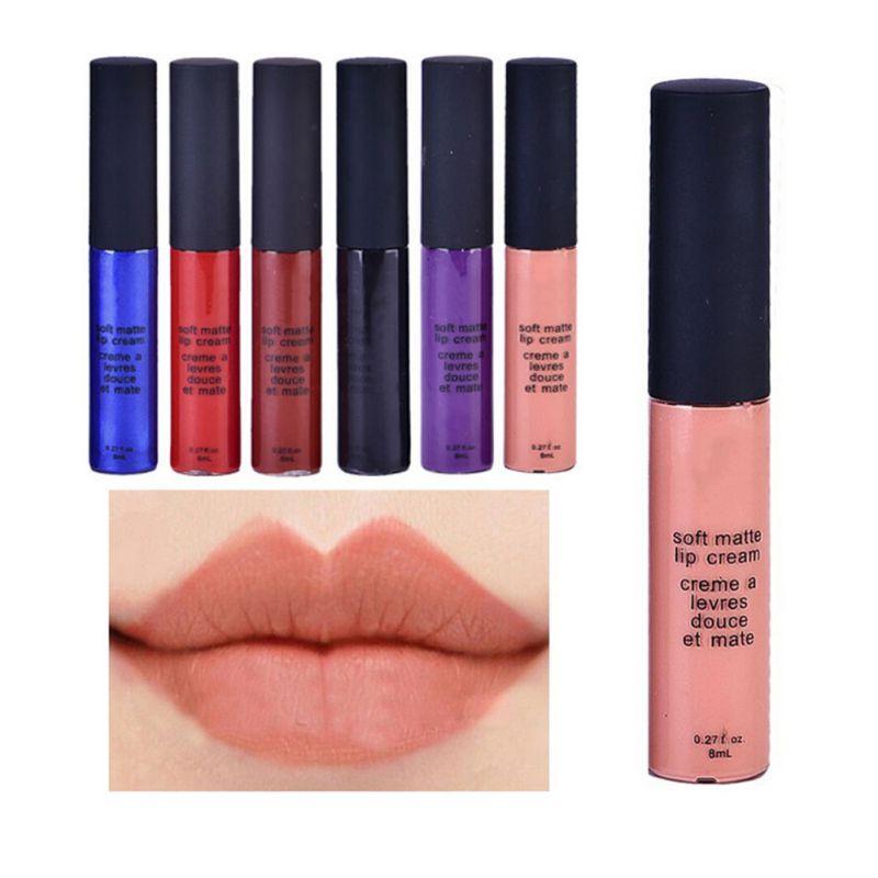 Venda quente Das Senhoras Das Mulheres À Prova D' Água 12 Cores do Batom Mate Suave Gloss Batom Longa Duração Makeup Lip Menina Doce