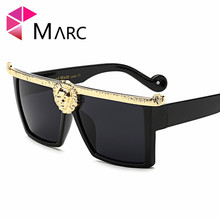 MARC UV400 WOMEN Square Plastic sunglasses Driving Brown MEN sol gafas gold oculos eyewear