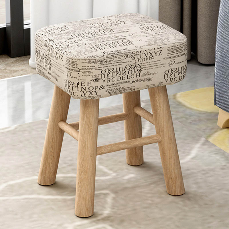 Round Square Multi Functional Low Stool Cloth Stool Sofa
