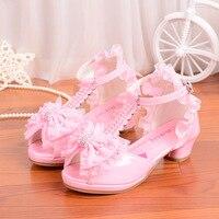 Kinder Neue High Heels Party Sandalen Prinzessin Stil Mode Prom Schuhe Für Mädchen Safty Qualität Sandalen Für Kinder