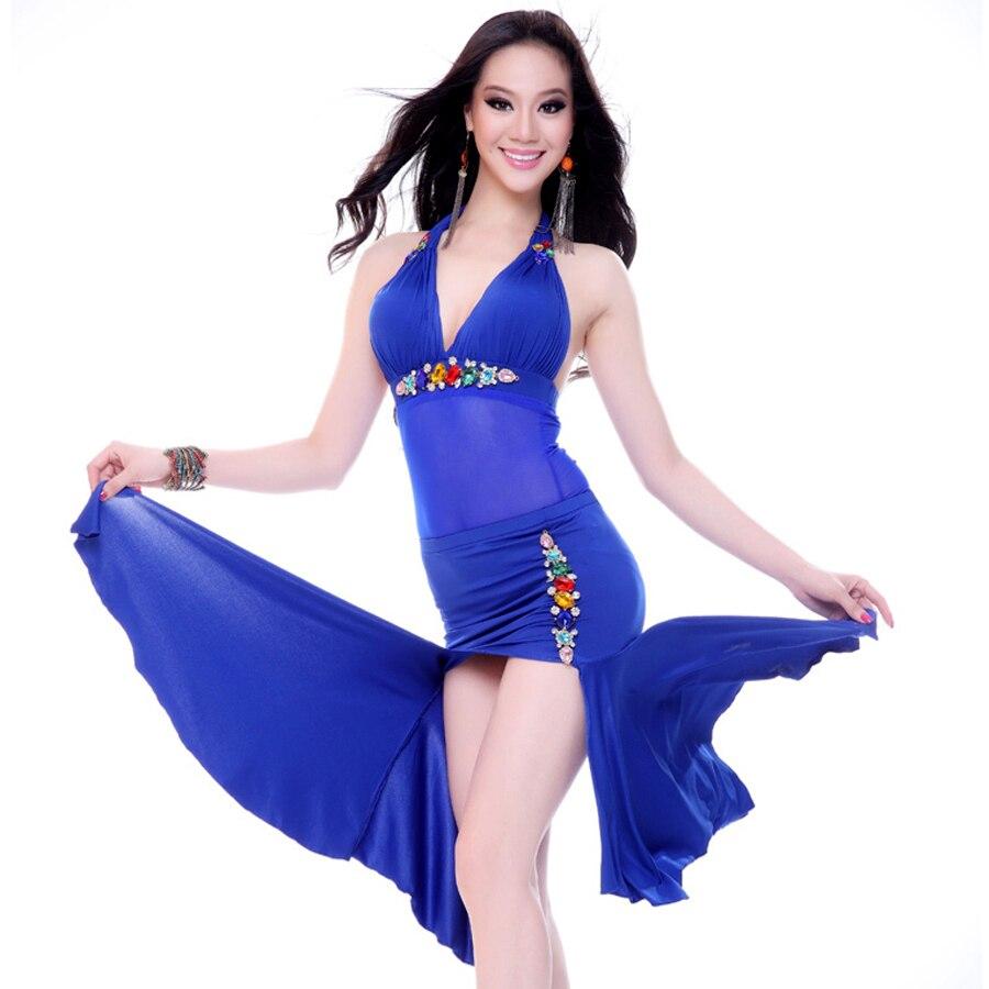 e03e1924c581 Practice Belly Dance Costume 2 Piece(Top+Dress) Flamenco Dance ...