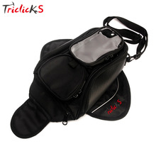 Triclick Oil Fuel Tank Bags Magnetic Motorcycle Bag Motorbike Oil Fuel Tank Bag Saddle Bag W/Bigger Window Moto Accessory Black купить дешево онлайн