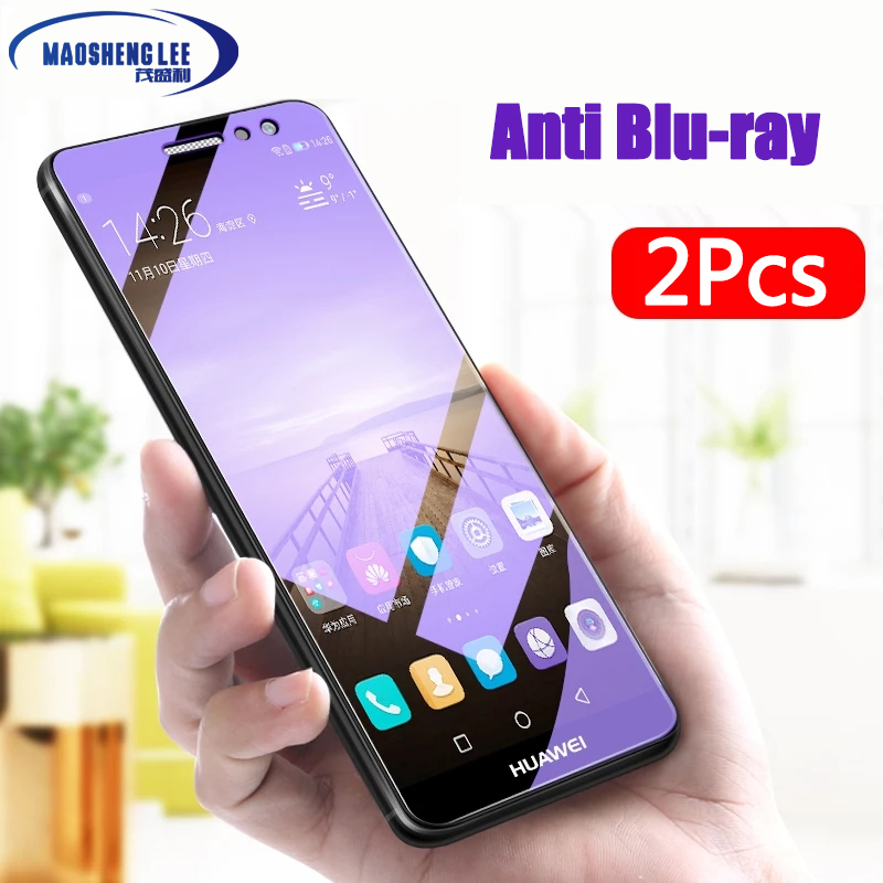 Galleria fotografica 2Pcs/lot Full Tempered Glass For Huawei Mate 9 Screen Protector Glass 0.26mm 9H Explosion-proof Glass film for huawei mate 9