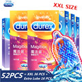 Durex Condom Large Size XXL 56mm Ice and Fire 5 Style Natural Latex Spiral Bumps and Threads Condoms for Men Sex Shop Wholesale