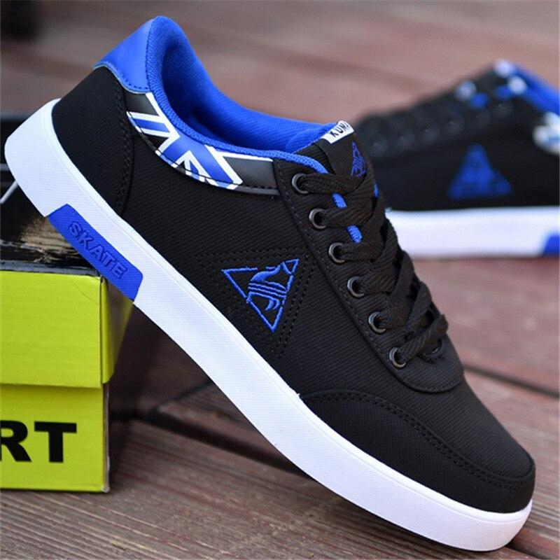 7fd7185fb حذاء كاجوال الرجال الصيف أزياء الرجل لو كوك أحذية مشي تنيس Masculino الأسود  أحذية رياضية من