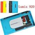 Оригинальный новый корпус аккумулятор заднюю панель двери + сим-подноса карточки + боковые кнопки для Nokia Lumia 920 N920 задняя крышка бесплатная доставка и отслеживать