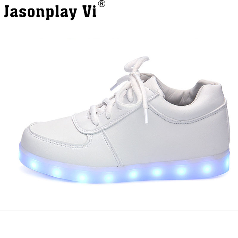 Jvi men  Led Shoes 2016 Big size 35-46 Fashion Light Men high-quality casual Shoes tenis Shoes Outdoor travel dance Led USB Shoes xss5
