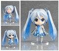 Hatsune miku figura de ACCIÓN de muñeca el sonido del futuro nieve temprana tono Q versión de la arcilla puede chage cara de juguete modelo nuevo caja