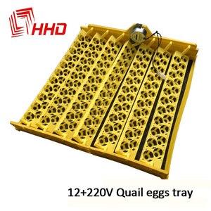 Chiny HHD 12V 220V napięcie jaj wylęgowych gospodarstwa 156 sztuk przepiórki papuga gołąb ptak Brooder plastikowa taca dla inkubatora